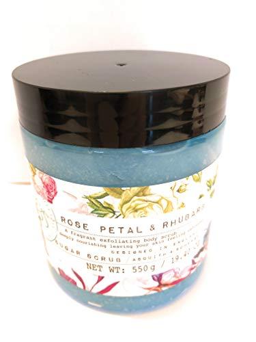 - Asquith And Somerset Rose Petal And Rhubarb Sugar Scrub 19.4 Oz
