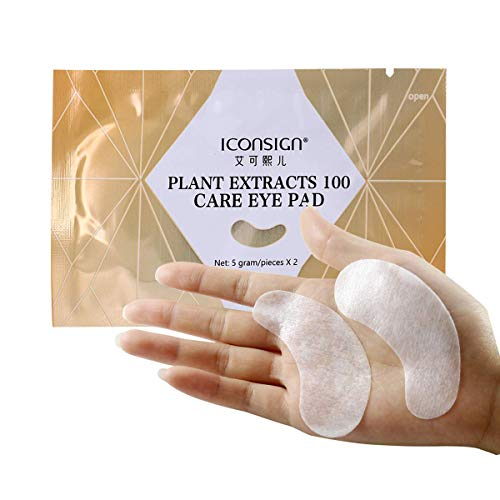 20 Pair Collagen and Hyaluronic Eye Pads Suitable for Eyelash Extension Lash Lift Eyelash Perm