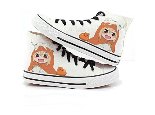Himouto! Umaru-chan Doma Umaru Scarpe Cosplay Scarpe Sneakers Nero / Bianco 1 Bianco 2