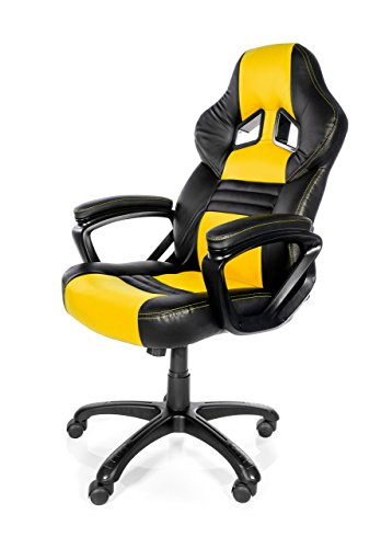 4160m4WmOaL - Arozzi Monza Series Gaming Racing Style Swivel Chair, Red/Black