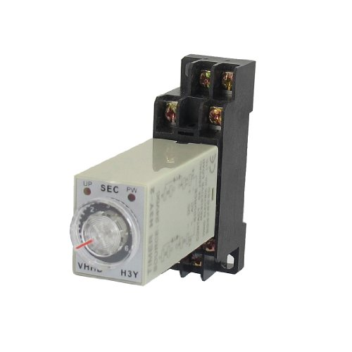 PDT 6 Seconds 8P Terminals Delay Timer Time Relay w Base ()