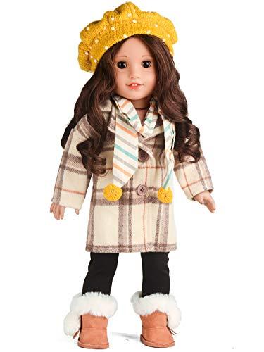[해외]sweet dolly Doll Clothes Loose Long Plaid Coat Outfits Fits 18 Inch American Girl Doll / sweet dolly Doll Clothes Loose Long Plaid Coat Outfits Fits 18 Inch American Girl Doll