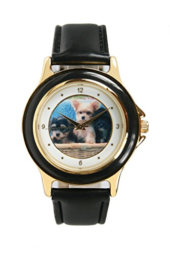 - Unisex Gold-Tone Totally Adorable Puppy Watch, 3194-2