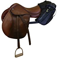 TrailMax English/Endurance Horse Saddle Bag for Trail-Riding, Featuring 3 Compartments & Quick Release Compression…