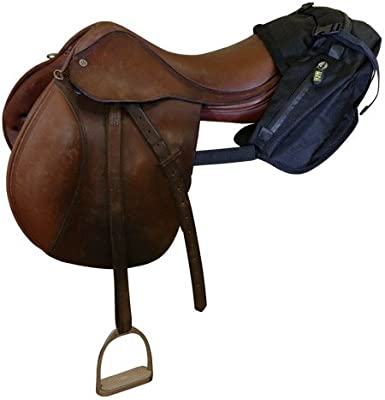 Horse Saddle Motorcycle Genuine Leather Cantle Bag Trail Ride Western 102CN07