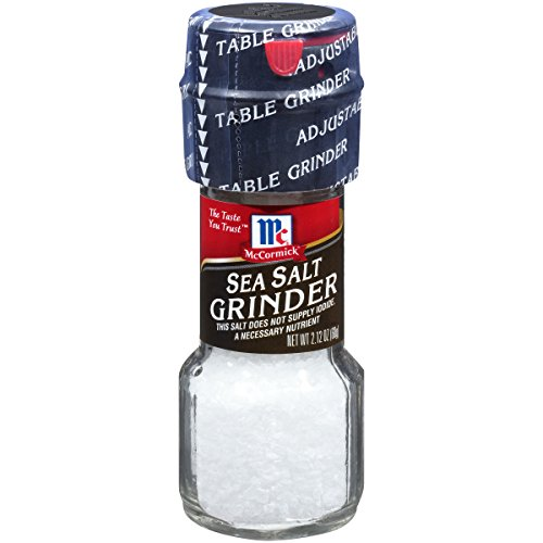 McCormick Mediterranean Sea Salt Grinder (Convenient & Adjustable), 2.12 oz