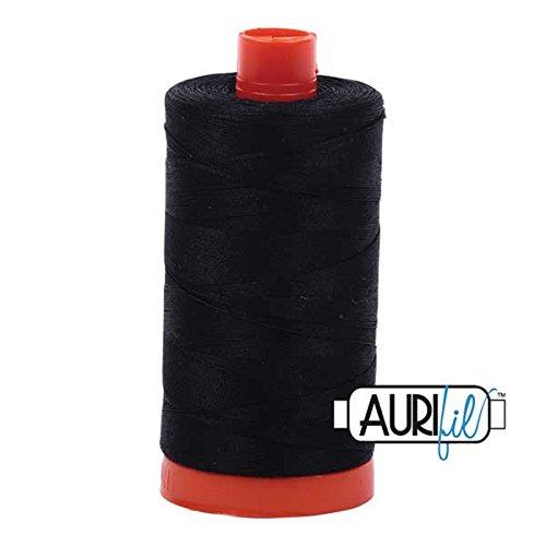 Aurifil A1050-2692 Mako Cotton Thread Solid 50WT 1422Yds black -