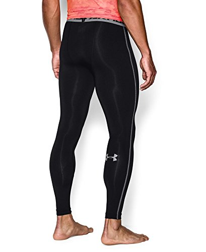 Under Armour Men's HeatGear Armour Compression Leggings, Black /Steel, XX-Large by Under Armour (Image #1)