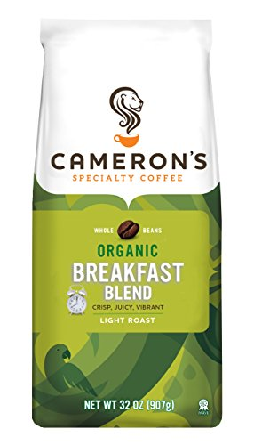 (Cameron's Coffee Roasted Whole Bean Coffee, Organic Breakfast Blend, 32 Ounce)