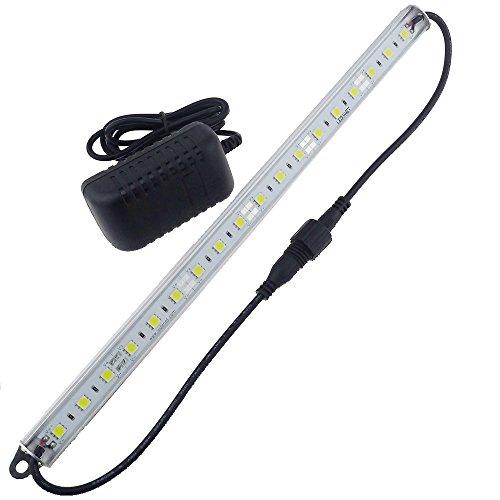 """LEDENET 12"""" 6500K-7000K White Super Bright 18LEDs 5050 - Aquarium LED Strip for Fish Tanks- Waterproof Aluminum Lighting 12V DC UL Listed Power supply (Cold White"""