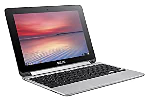ASUS Flip 2-in-1 C100PA-DS03 10.1-inch Touch Chromebook (1.8GHz, 4GB Memory, 32GB eMMC, Google Operation System), Silver
