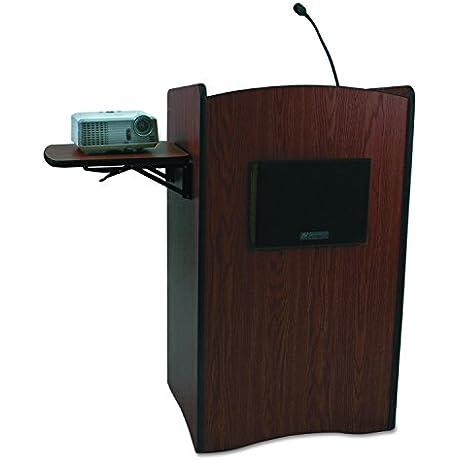AmpliVox SS3230MH Multimedia Smart Computer Lectern 25 1 2w X 20 1 4d X 43 1 2h Mahogany