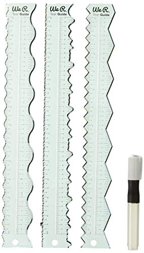 We R Memory Keepers We Tear Guides 4/Pkg (Edge Decorative Ruler)