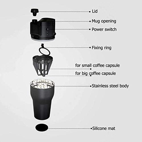 Mini Machine à café électrique Machine à Expresso Automatique Portable avec câble de Charge adapté aux Maisons et aux Bureaux