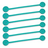 TwistieMag Strong Magnetic Twist Ties - The Tropical Ocean Blue Collection - Turquoise 6 Pack - Super Powerful Unique Solution For Cable Management, Hanging & Holding Stuff, Fidget Toy, Or Just For Fu