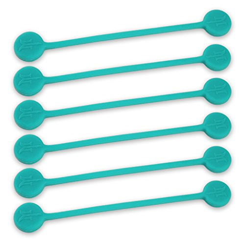 (TwistieMag Strong Magnetic Twist Ties - The Tropical Ocean Blue Collection - Turquoise 6 Pack - Super Powerful Solution for Cable Management, Hanging & Holding Stuff, Fidgeting, Or Just for)