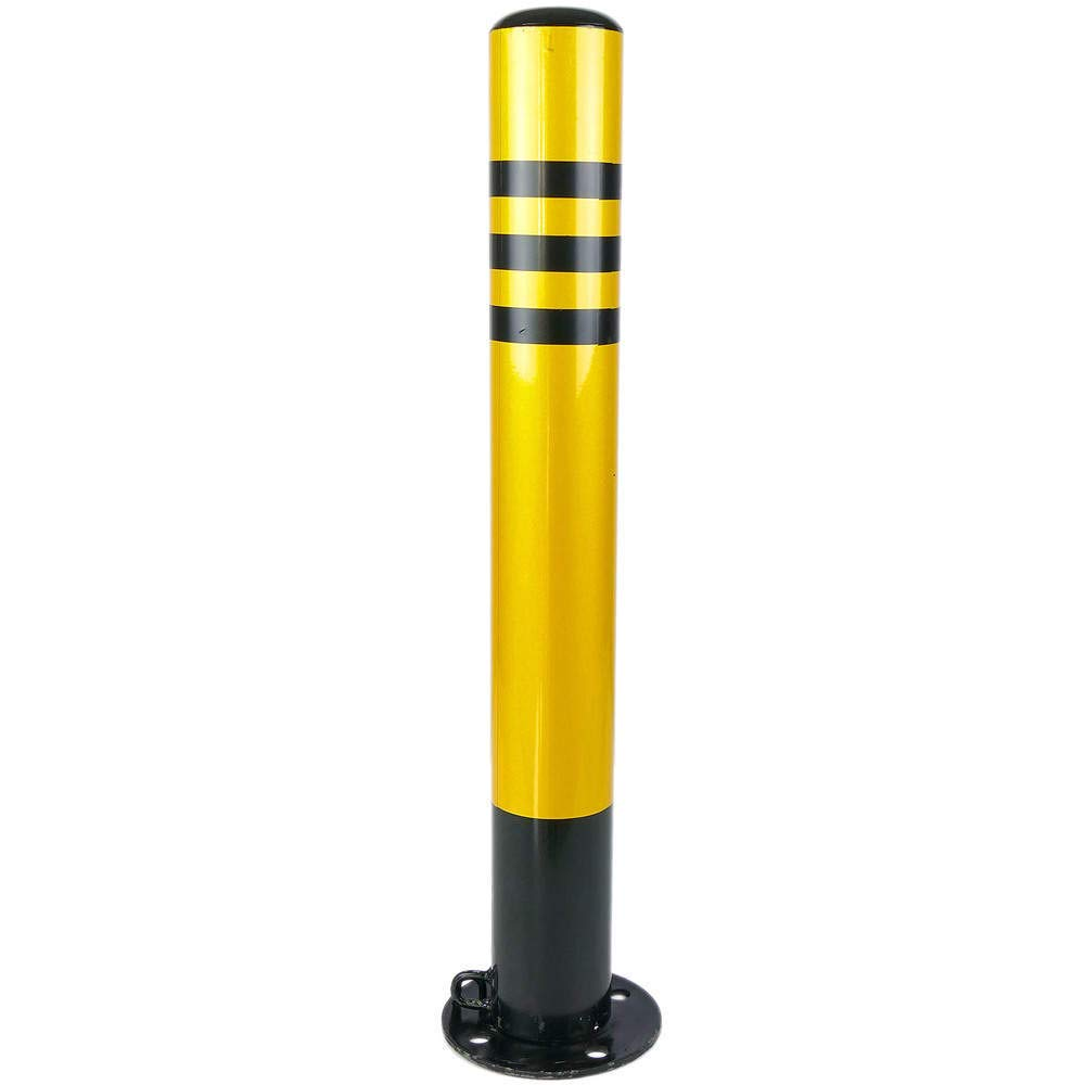 Steel nailed bollard with removable base 89x750mm Cablematic.com PN05011618200127756