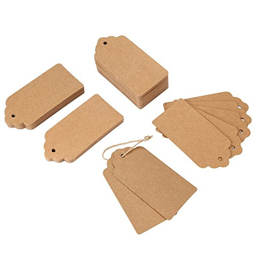 Base Cover Notebook (120PCS Kraft Paper Wedding Rectangle Craft Hang Tags 100 Feet Natural Jute Twine)