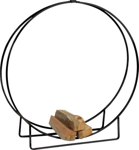 Black Steel Log Hoop - 24 x 12 ()