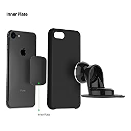 iOttie iTap Magnetic Dashboard Premium Car Mount Holder for iPhone 7 7s Plus 6s Plus 6s SE, Samsung Galaxy S8 Edge S7 S6 Note 5