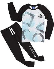 PlayStation Pijama Niño, Pijamas Niños con Pantalon Negro y Camiseta de Manga Larga, Ropa Niño de Dormir 100% Algodon, Regalos para Niños y Adolescentes Edad 7 a 15 Años