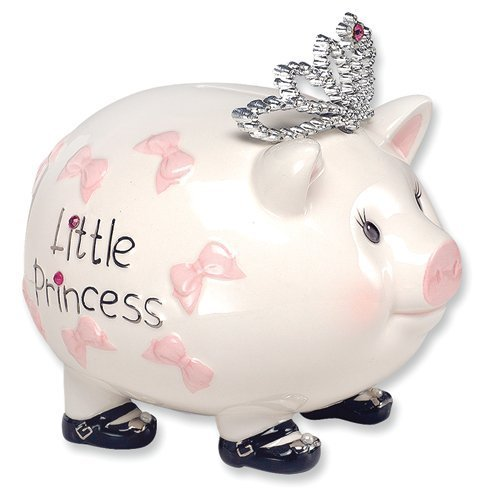 Mud Pie Baby Little Princess Tiara Piggy Bank (Discontinued by