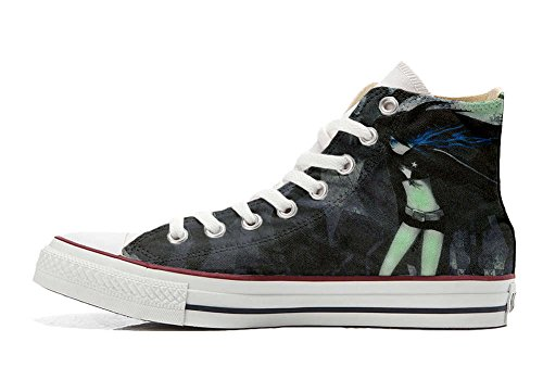 Converse All Star Hi Customized personalisierte Schuhe (Handwerk Schuhe) woman Dark