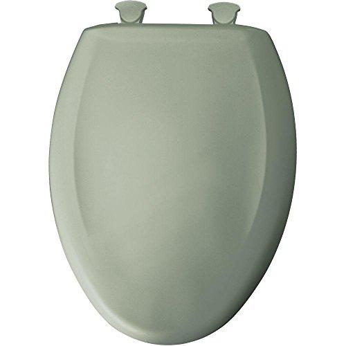 Toilet Seat Green Elongated - Bemis 7B1200SLOWT 355 Lift-Off Plastic Elongated Slow-Close Toilet Seat Aspen green
