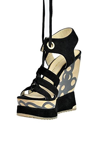 PALOMA Suède Noir MCGLCAT03181E Femme Chaussures BARCELÓ Compensées rB4Z8Irq