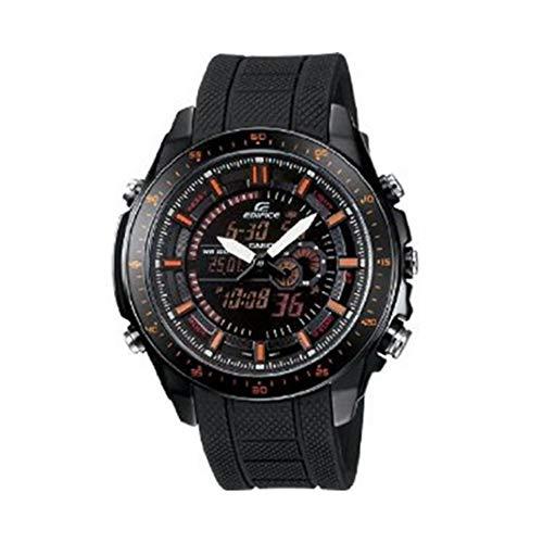 Casio Edifice Quartz Black/Red Dial Black Band - Men's Watch EFA132PB-1AV (Casio Bull Red)