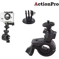 Action Pro Bike Mount Holder Bracket for Gopro Hero 6/5/4s/4/3/2/1, SJCAM, XIAOYI, Sony Cam(Black)