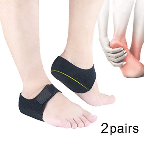 Ankle Brace Lace Up Ankle Support Heel Cups with Adjustable Auxiliary Fixing Belt Magic Tape Strength Protection Heel Pad Foot Fatigue Shock Absorbers for Men and Women