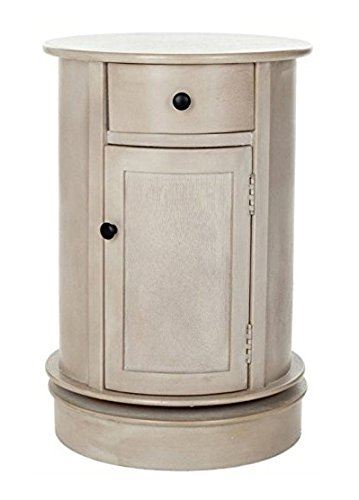 Lexington End Table Finish - Safavieh American Homes Collection Tabitha Vintage Grey Oval Swivel Storage End Table