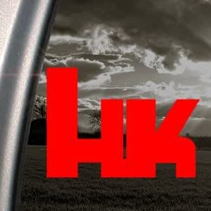 CMI331 HK HECKLER And KOCH Red Decal Car Truck Window Red Sticker
