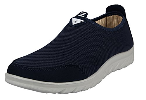 Indoor Shoes (iLoveSIA Men's Comfort Walking Slip-on Casual Loafer Dark Blue US Size 12)