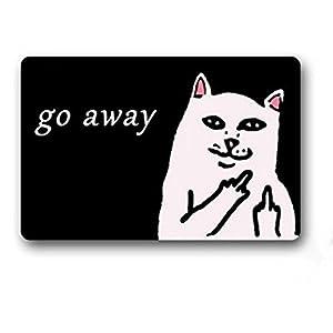 Amazon Com Custom Go Away Cat Doormat Door Welcome Mat