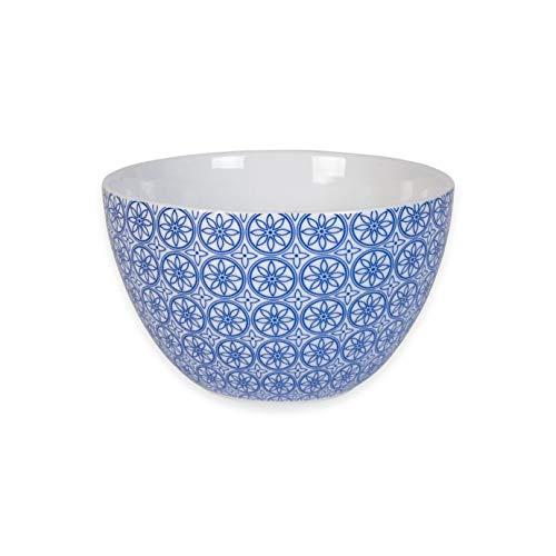 Elegant Tile Motif Bistro Blue Mosaic Bowl