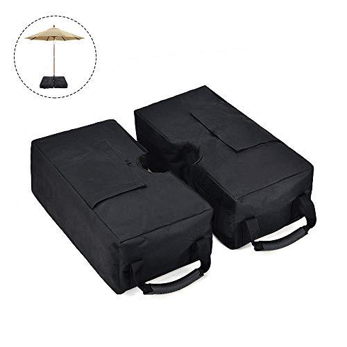 EOSAGA Umbrella Base Weights Sand Bags 2-Piece Detachable Umbrella Sand Bag for Outdoor Patio Umbrella by EOSAGA