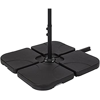 Best Choice Products Patio 4 Piece Cantilever Offset Umbrella Base Stand