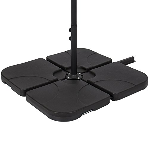 Base Parts - Best Choice Products Patio 4-Piece Cantilever Offset Umbrella Base Stand - Black