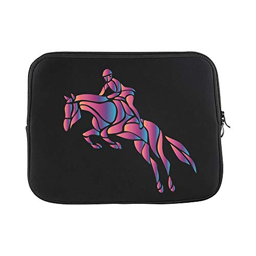 Design Custom Horse Race Equestrian Sport Silhouette Racing Sleeve Soft Laptop Case Bag Pouch Skin for MacBook Air 11
