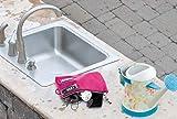 Vaultz Locking Zipper Pouch, 5 x 8 Inches, Pink
