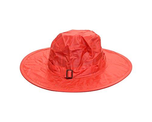 Twist-and-Fold Childrens Rain Hat, 13 in Diameter Brim, Red ()