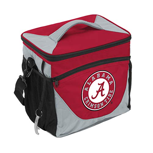 NCAA Alabama Crimson Tide 24-Can Cooler with Bottle Opener and Front Dry Storage Pocket Alabama Crimson Tide Four