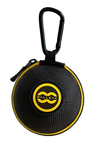 Ballsak Sport - Yellow/Black - Clip-on Cue Ball Case, Cue Ball Bag for Attaching Cue Balls, Pool Balls, Billiard Balls, Training Balls to Your Cue Stick Bag EXTRA STRONG STRAP DESIGN! (Sport Cue Case)