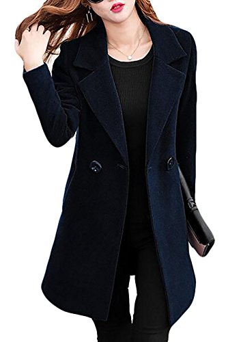 Double Breasted Long Sleeve Coat - 4
