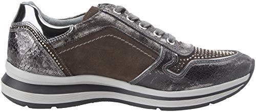 Velour Gris Mujer Zapatillas grey Cordones Nero Giardini Para Crack Sin 032 105 CU6t7WAwq