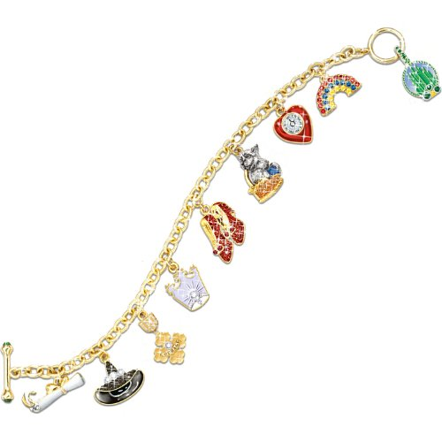 Wizard Of Oz Over The Rainbow Charm Bracelet by The Bradford Exchange