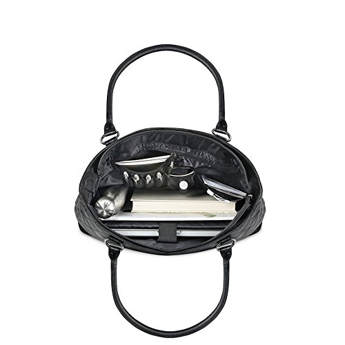 Solo Waldorf Tote with 15.6 Inch Laptop Compartment, Black by SOLO (Image #1)