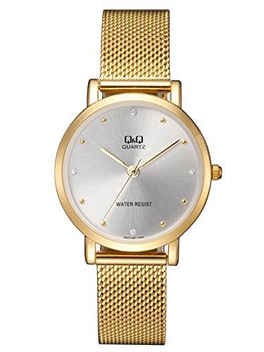 Reloj de moda para mujer dorado Q&Q by Citizen QA21J001Y: Amazon.es: Relojes